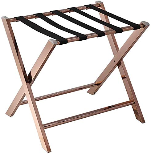 Read About HOMRanger Room Luggage Holder, Hotel Stainless Steel Folding Luggage Rack, Travel Break F...