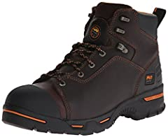 Ankle-high work boot with premium leather upper featuring cement construction for flexibility and reduced break-in time Slip, oil, and abrasion-resistant outsole Electrical Hazard protection. Fiberglass shank for structural support Steel toe shaped o...