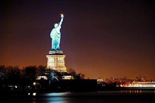 Bilderdepot24 Papier Peint intissé - Statue de la Liberté, New York City - 100x65 cm - pâte Inclus - Vente directe Fabricant!