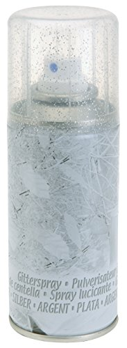Silber Glitzerspray - 150ml - Weihnachtsspray Dekospray Dekoration Deko-Spray Glitzer-Spray