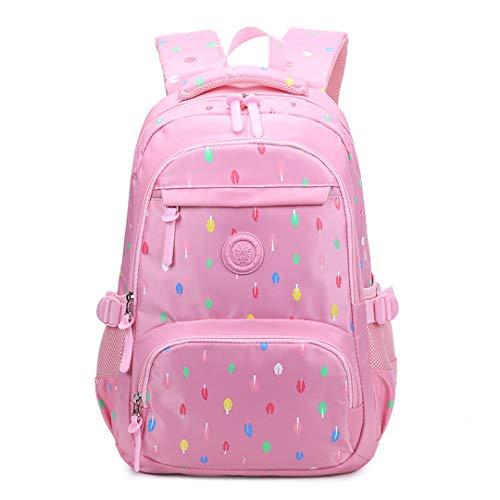 School Bags for Teenagers Girls School Bag Large Capacity Lady Print Backpack Backpack Kids School Bag Mochilas, Pink (Pink) - RS190812