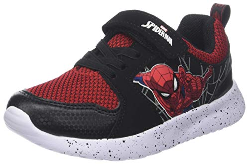Spiderman Boys Kids Sport Athletic, Chaussures Garçon Fille, Noir Black Red, 33 EU