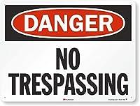 "Danger : No Trespassingサイン、24"" x 18"""