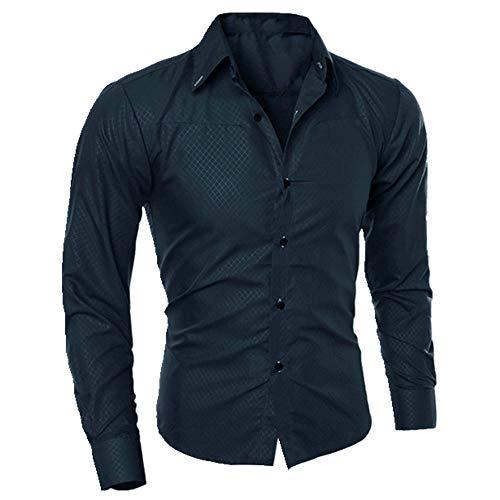 Camisa de los hombres de manga larga slim ropa de los hombres