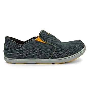 OLUKAI Men s Nohea Mesh Slip-On Shoes Dark Shadow/Dark Shadow 11.5 M US