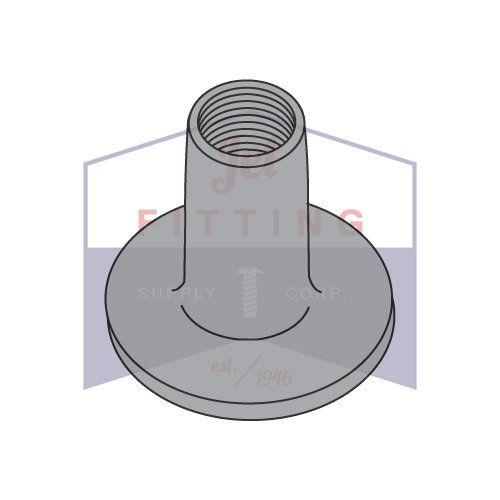 8-32X1/4 Weld Nuts   0.718 Round Base   Steel   Plain Finish   Base Diameter: 9/16'' (QUANTITY: 1000)