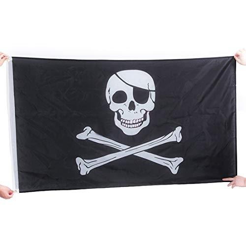 Flag Jolly Roger - 90x150cm Large Skull Headband Crossbones Pirates Flag Jolly Roger Hanging With Grommet Home Praty - Shirt That Rf Flag Flag & American Flag Bioaqua Roger Jolly Ear Flag