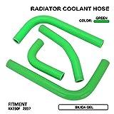 AnXin Kit de Tuyau en Silicone pour Liquide de Refroidissement de radiateur pour Moto Kawasaki KX250F KXF250 2017 2018 – Vert
