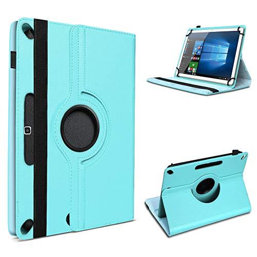 UC-Express Tablet Hülle kompatibel für Xiaomi Mi Pad 4 Plus Tasche Schutzhülle Cover Schutz Hülle 360° Drehbar 10.1 Zoll Klapphülle, Farben:Türkis