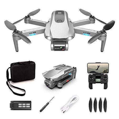 DASLING K60PRO cardán autoestabilizador de Dos Ejes Profesional sin escobillas GPS Drone Plegable HD fotografía aérea aeronave de Cuatro Ejes-Plata 6K