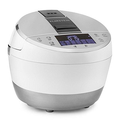 Klarstein Hotpot - Multifunktionskocher, Multi Cooker, Temperaturen von 35° bis 160°C, 950 Watt Heizelement, 22 voreingestellte Kochfunktionen, Antihaftbeschichtung, weiß