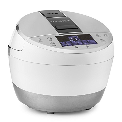Klarstein Hotpot - Multifunktionskocher, Multi Cooker, Temperaturen von 35° bis 160°C, 950 Watt Heizelement, 22 voreingestellte Kochfunktionen, Antihaftbeschichtung, weiß