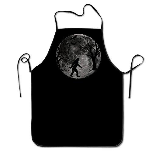 Unisex Bigfoot en el bosque luna llena adulto–Delantal de cocina