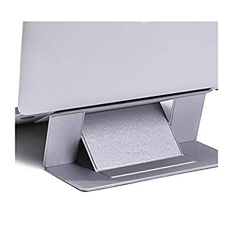 Adjustable Invisible Laptop Stand Lightweight Computer Adhesive Stand Pad Folding Bracket Portable Tablet Holder for iPad- Laptop Stand - Gaming Laptop-Grey