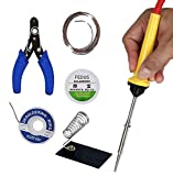 Fedus Soldering kit 6 in 1 25W Diy Electric Solder Starter Tool Kit Set with Iron Stand Desolder Pump