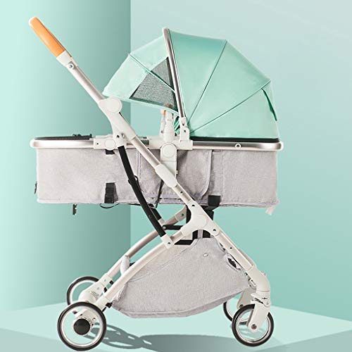 Great Price! TXTC Aluminum Baby Carriage,Foldable Stroller Compact Convertible Luxury Pram Strollers...