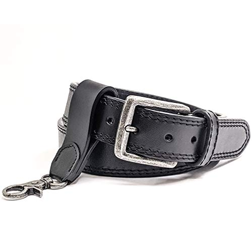 WInchester Concealed Carry Belt CCW,14 Oz Full Grain Leather Tactical Gun Belt, 1 1/2 Inch Wide Black + Keychain Ring