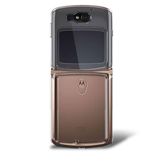 Olixar ExoShield Schutzhülle für Motorola Moto Razr 5G, transparent, stoßfest, Hartschale, schlanker Rahmen mit Fallschutz, kratzfeste, durchsichtige Rückseite, transparent