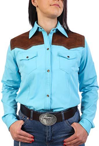 Last Rebels Country - Camisa para mujer, color turquesa turquesa Small