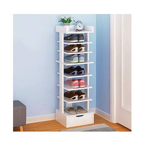 Estante de Zapatos Rack de zapatos de 8 niveles con cajón Moderno Muebles de zapatos Muebles para el hogar Estante de zapatos Organizador de almacenamiento para el pasillo de entrada Organizador de Za