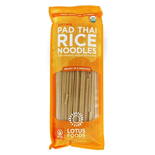LOTUS FOODS Organic Brown Rice Pad Thai Noodles, 8 OZ