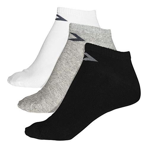 Converse Herren Socken 3-er Pack Basic low cut Füßlinge schwarz grau weiß, Größe:39-42 EU