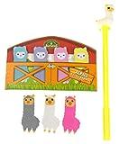 Alpaca Llama Office Bundle - Alpaca Eraser Set, Alpaca Sticky Memo Tabs & Llama Yellow Gel Pen