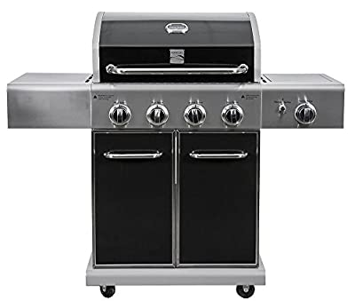 Kenmore PG-40409SOLB Outdoor Patio 4 Burner Gas BBQ Propane Grill With Side Burner in , Black