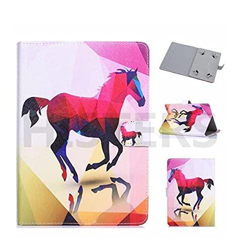 Funda universal para tablet de 10 pulgadas, con soporte universal para Tab de 10', diseño de caballo rosa