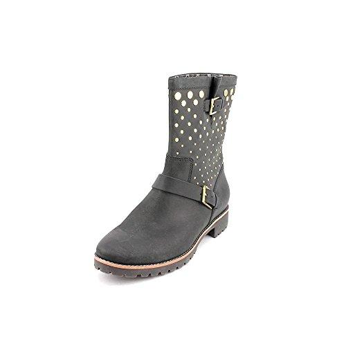 Sperry Top-Sider Women's Britt,Black Leather/Studded,US 5.5 M