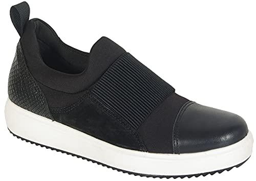 IGI & CO 4151300 zwarte schoenen dames gymschoenen instappers aan elastiek
