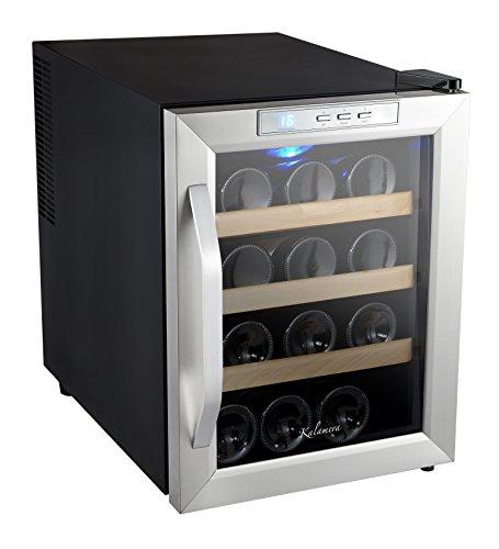 Kalamera KRC-12ASSE Cave à vin réfrigérée 33L (peut contenir jusqu'à 12 bouteilles de vin de taille standard), température 10-18 ° C