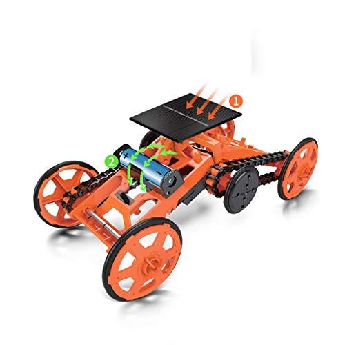 Wenosda Stem Toys Kit de Juguete para Robot de Escalada 4WD Coches de Energía Solar de Bricolaje Kits de Ciencia de Robots de Modo Vehículos Modelo Eléctricos para Niños (Naranja)