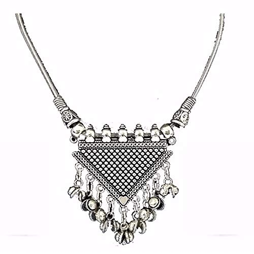 Indian Bollywood Antique Oxidised Silver Plated Fancy Party Wear Statement Necklace Jewellery for Girls & Women