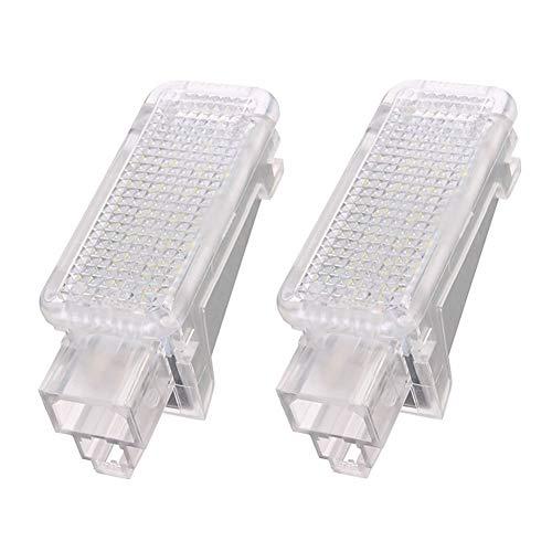 Componentes de los faros For accesorios del coche A3 / A4 / A6 / Accesorios for automóviles / Accesorios de coches Pie Nido enciende Santo Cortesía sombra lámpara de luz blanca 6500K 2x 12V del coche
