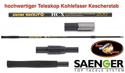 Sänger Top Tackle Systems Iron Trout HCX Landing Net Handle 200 (Teleskop-Kescherstab)
