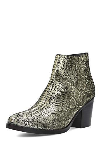 Apepazza Damen Ankle-Boots Jade Leder Absatz 7 cm golden NEU