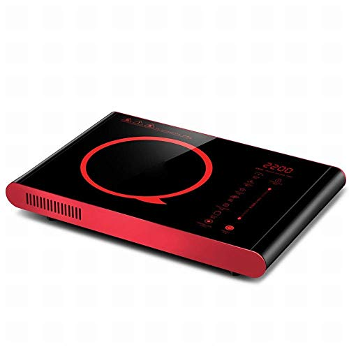1yess Tecnología de Mute de Onda de luz infrarroja Pantalla táctil Inteligente Estufa eléctrica de cerámica eléctrica Grande Cocina de inducción de Fuego Grande, Negro, 1