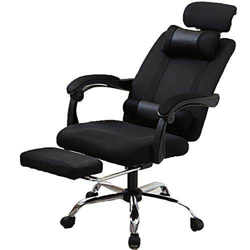 Ordenador Silla de oficina, silla de la tarea ejecutiva, regulable en altura, rotacion de 360 grados, comodo acolchado silla del acoplamiento y ergonomico diseno Silla de oficina Esencial,Negro