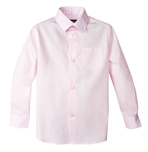 Spring Notion Baby Boys' Long Sleeve Dress Shirt 18M Marshmallow Pink