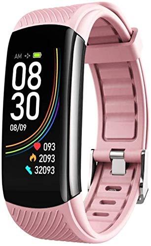 JIAJBG Reloj deportivo inteligente pulsera deportiva impermeable inteligente cálculo de calorías saludable gestión del sueño recordatorio de llamada adecuado-gris de lujo rosa