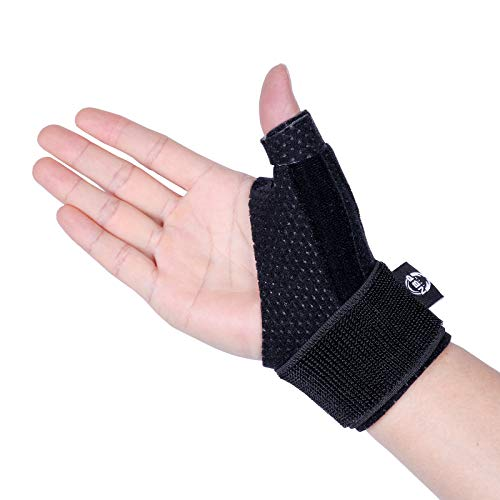 Dr.Welland Reversible Thumb & Wrist Stabilizer splint for BlackBerry Thumb, Trigger Finger, Pain Relief, Arthritis, Tendonitis, Sprained and Carpal Tunnel Supporting, Lightweight and Breathable