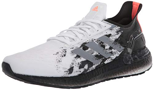 adidas Women's Ultraboost Personal Best Running Shoe, White/Grey/Black, 10.5 M US