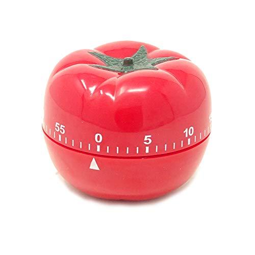 Tomato Shape Timer - Yueton Kitchen Craft Mechanical Wind Up 60 Minutes Timer