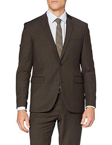Esprit 080eo2g302 Blazer, 204/Marrón Oscuro 5, 50 para Hombre