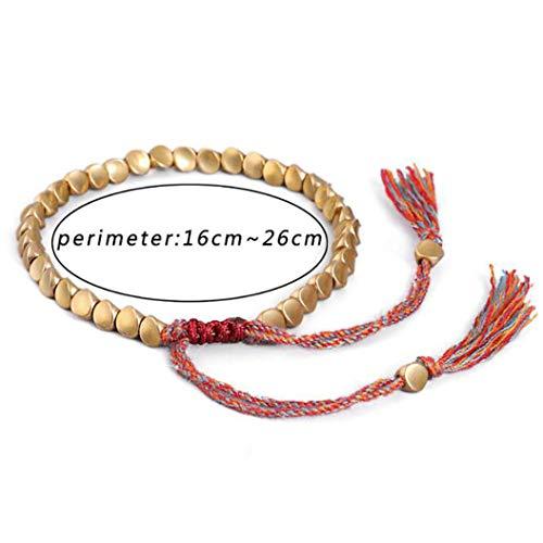 Pulsera de cobre tejida a mano de la cuerda de la suerte Pulsera ajustable de cobre irregular pulsera unisex pulsera joyería