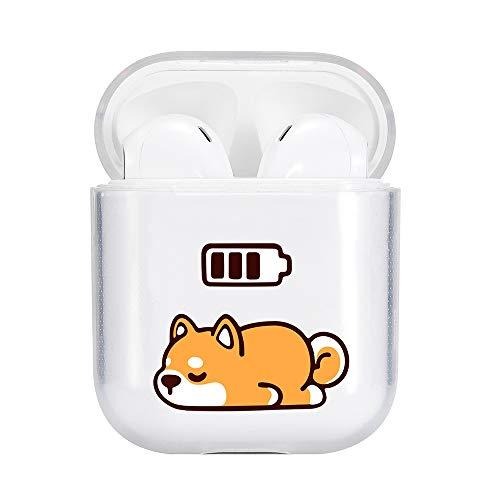 Idocolors Süßer H& Hülle Kompatibel mit AirPods 1 und 2 Cute Hülle Cover TPU Durchsichtig Weich (LED Sichtbar) - [Unterstützt kabelloses Laden] [Stoßfeste Schutzhülle]