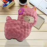 Stress Relief Toy for Kids Adults, Adorable Llamas Alpacas Slow Rising Sensory Squishy Toy, Scented Squeeze Decompression Sheep Toy, Soft Stretchy Anti-Stress Fidget Toy for ADHD ADD OCD Autism (#01)