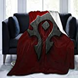 Andppk The Horde World of Warcraft Air-Conditioning Quilts in Summer, Warm Sheets in Winter. Super Soft Blanket, Suitable for Adults Or Children's Sofa Or Bed