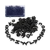 Doolland, Letras magnéticas para nevera con caja de transporte, juego de 124 unidades, color negro